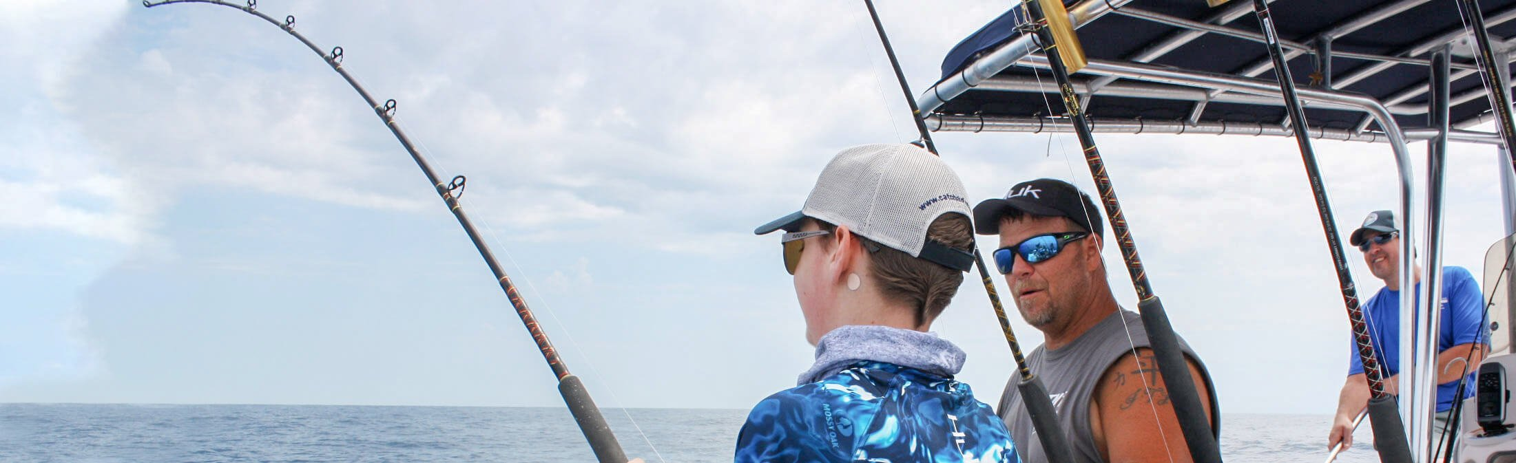 Catch-A-Dream child on saltwater fishing adventure